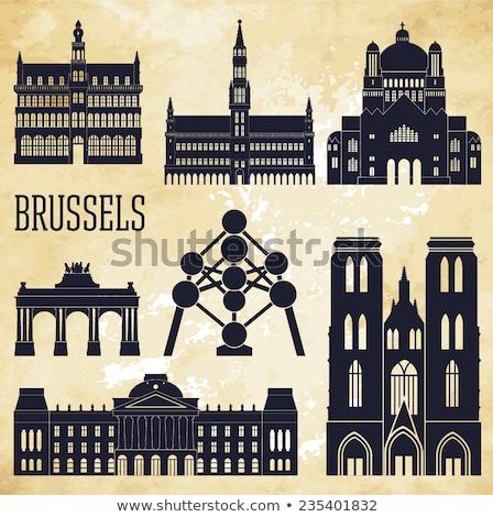 Casa museu cidade Bruxelas Bélgica fachada Foto stock © anmalkov