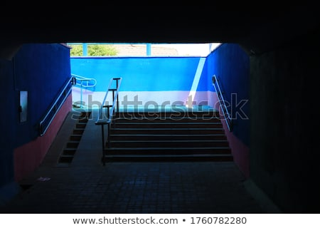 EXIT on Urban staircase in underground passage Stock photo © stevanovicigor