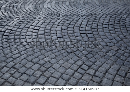 Cobblestone pavement with shallow depth of field Stock photo © stevanovicigor