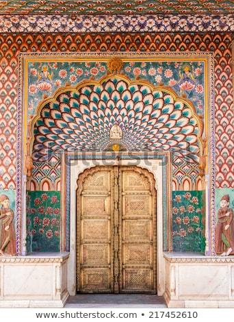 öreg · múzeum · bejárat · részlet · felirat · Olaszország - stock fotó © meinzahn