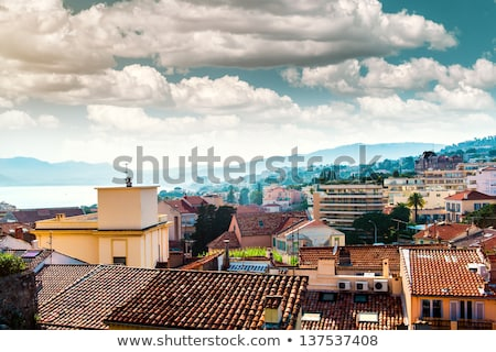 typical residential houses in cannes france stock photo © amok