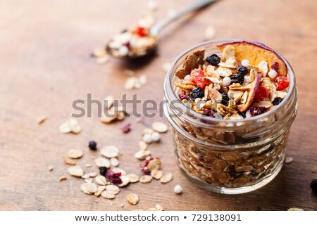 muesli oat flakes and bran stock photo © zhekos
