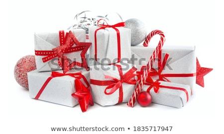 подарок · лента · изолированный · белый · текстуры - Сток-фото © natika