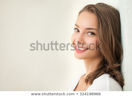 beautiful tanned brunette smiling Stock photo © Giulio_Fornasar