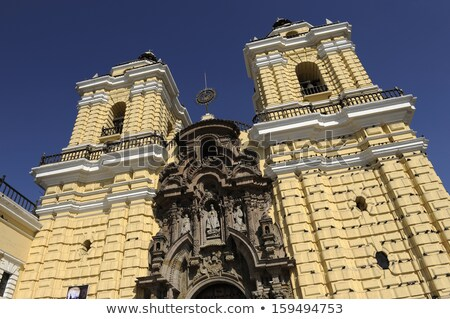San Francisco kolostor központi Lima Peru ajtó Stock fotó © xura