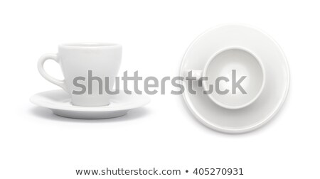 Vide espresso tasse soucoupe isolé blanche Photo stock © bmonteny
