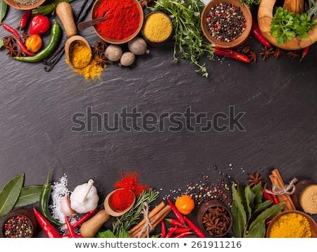 Chili épices fraîches rouge séché trois Photo stock © PeterHermesFurian