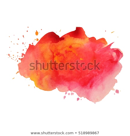 Orange watercolor paint vector background with blots and banner Stock photo © gladiolus
