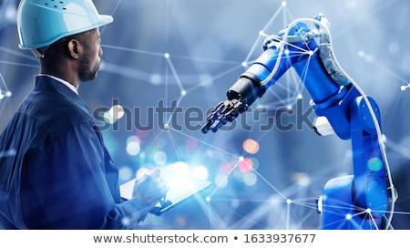 Laborer with digital tablet Stock photo © ivonnewierink