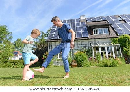 Painéis solares cor alternativa energia negócio céu Foto stock © tracer