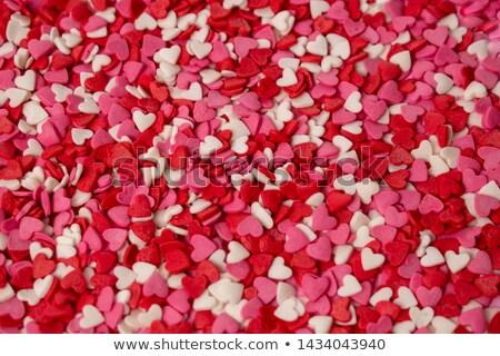 szív · alakú · cukorka · különböző · szín · hátterek - stock fotó © BibiDesign