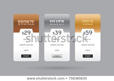 árazás asztal bronz ezüst arany terv Stock fotó © liliwhite