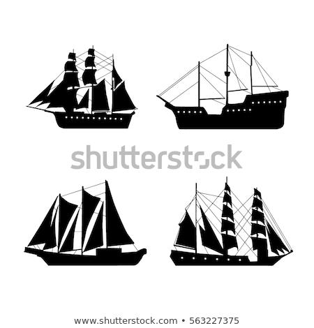 Edad barco pie costa cielo madera Foto stock © vrvalerian
