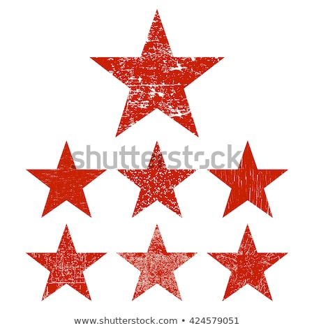 red grunge star vector stock photo © pashabo