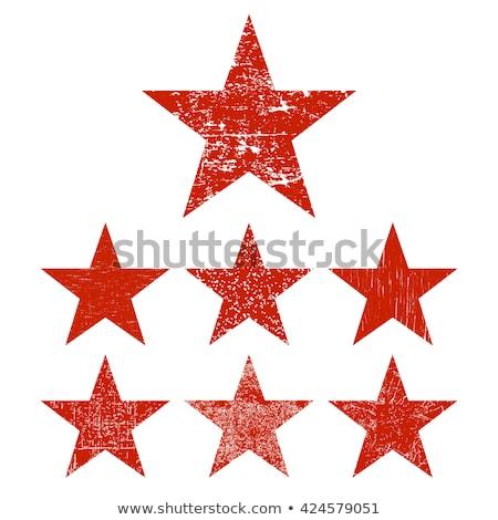 Kırmızı grunge star vektör dizayn kan Stok fotoğraf © pashabo