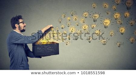 Smart · человека · очки · Идея - Сток-фото © feelphotoart