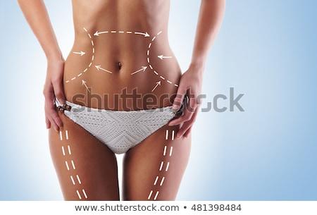Kız gövde üstsüz beyaz külot vücut Stok fotoğraf © fotoduki