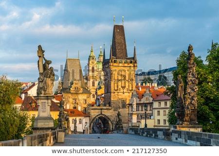 Híd torony kilátás Prága Csehország város Stock fotó © joyr
