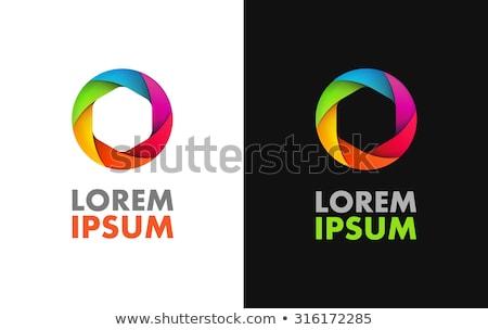 Arco-íris fotografia persiana filme modelo Foto stock © shawlinmohd