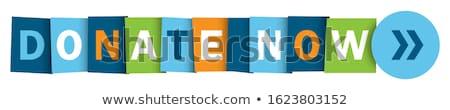 Adományoz zöld vektor ikon gomb internet Stock fotó © rizwanali3d
