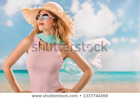 çekici bayan plaj genç Güney Afrika Stok fotoğraf © jacojvr