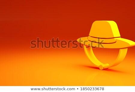 Człowiek safari hat polowanie charakter dziedzinie Zdjęcia stock © Elnur