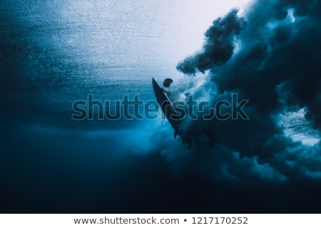 grande · surfe · onda · oceano · praia · natureza - foto stock © chrisvanlennepphoto