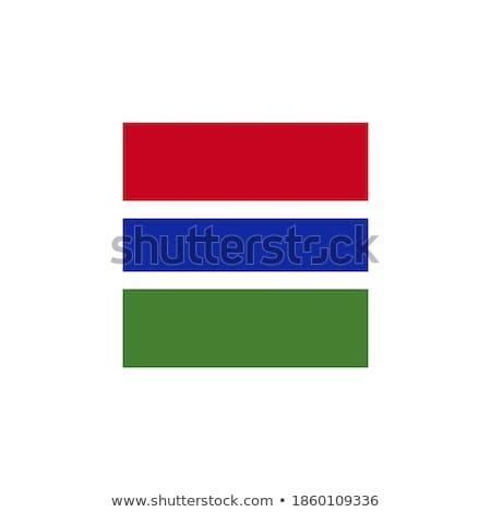 Placu ikona banderą Gambia metal ramki Zdjęcia stock © MikhailMishchenko