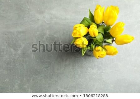 Bouquet giallo tulipani bella complimenti amore Foto d'archivio © mcherevan