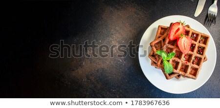 Bélgica caliente delicioso servido desayuno textura Foto stock © Klinker