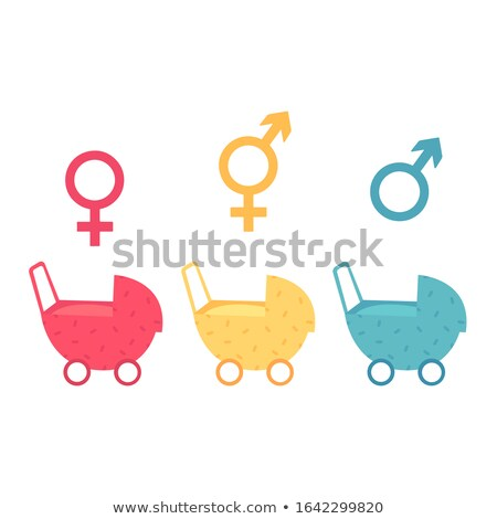 Gender identities icons on color background. Stock photo © tkacchuk