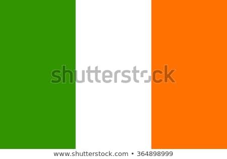 Banderą Irlandia wykonany ręcznie placu streszczenie Zdjęcia stock © k49red