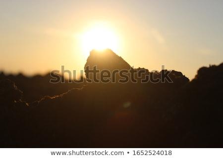 ストックフォト: バリ · 日没 · 海岸 · インド · 海 · 島