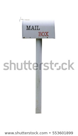 Mailbox geïsoleerd witte kantoor mail brief Stockfoto © ozaiachin