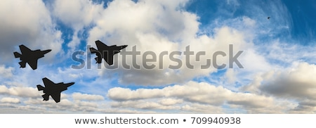 Moderna militar aeronaves siluetas establecer popular Foto stock © jeff_hobrath