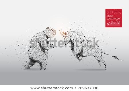 medve · piac · figyelmeztető · jel · jelzőtábla · figyelmeztetés · előre - stock fotó © ustofre9