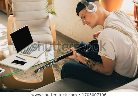 Stock photo: young musician