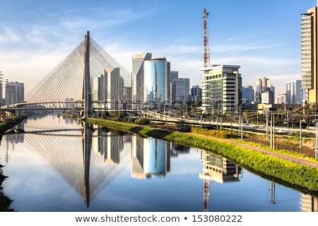 Sao Paulo miasta budynków miejskich finansów Zdjęcia stock © compuinfoto