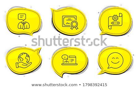 Online Business on Blueprint of Cogs. Stock photo © tashatuvango