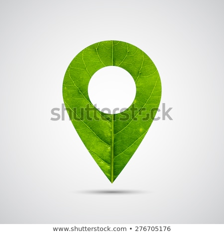 green button with leaves stock photo © vadimone