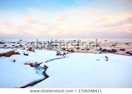 Mar báltico costa pedras onda praia Foto stock © Arrxxx