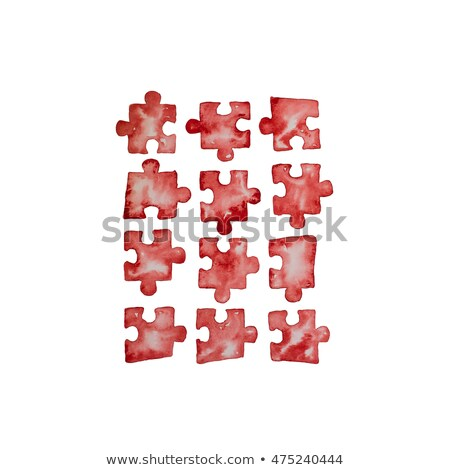 solution and puzzle pieces in grunge drawn style Stock photo © marinini