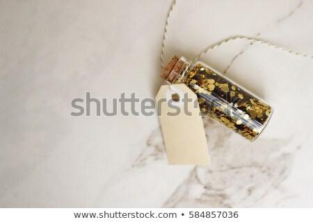 argent · verre · bouteille · éducation · collège · pièces - photo stock © jonnysek