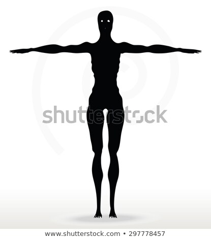 skeleton silhouette in default pose  Stock photo © Istanbul2009