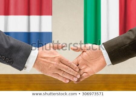 Pays-Bas Italie serrer la main main réunion signe Photo stock © Zerbor