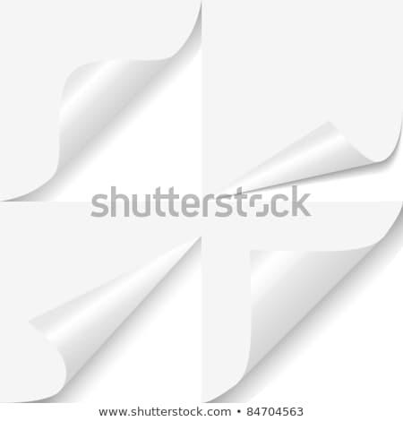 carta · angolo · coprire · foglio · bianco · piazza - foto d'archivio © nicemonkey