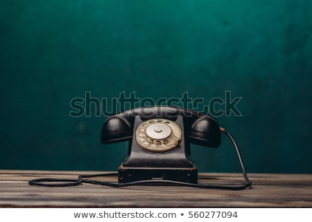 old telephone on wall stock photo © mikko