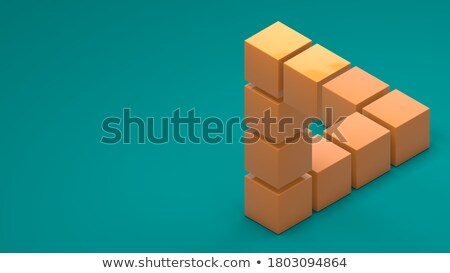 Open - Text on Blue Puzzles. Stock photo © tashatuvango