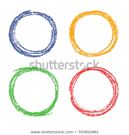 Zsírkréta kör szett absztrakt toll terv Stock fotó © gladiolus