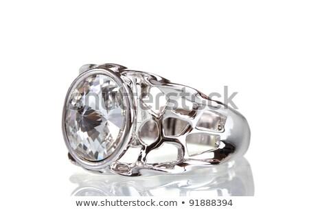 Big silver ring Stock photo © kirs-ua